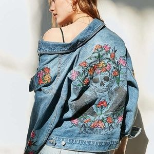Urban Outfitters Embroidered Denim Jacket